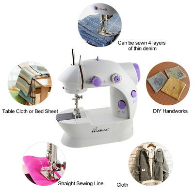 Portable Desktop Mini Electric Sewing Machine Hand Held Household Home Tailor