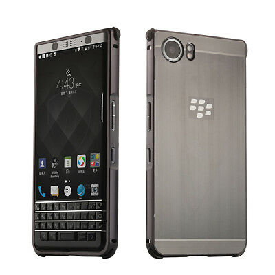 Metal Aluminum bumper Frame Brushed back Case Cover For Blackberry KEYone KEY2