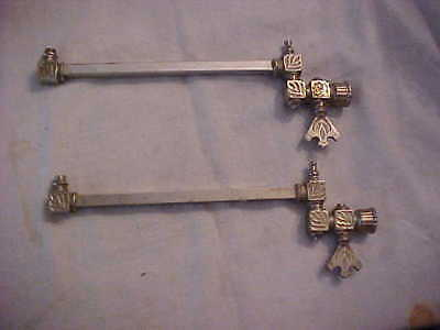 Pair of RARE Victorian Era Swivel Arm Nickel Plated Brass Gas Wall Sconces