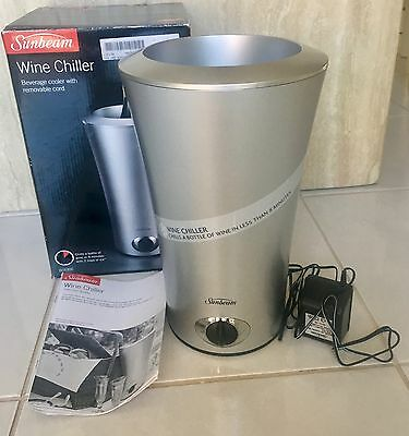 Sunbeam Wine Chiller: Beverage Cooler with Removable Cord, Never Used