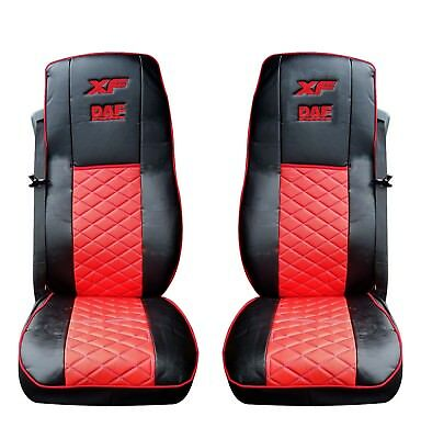 Eco Leather Seat Covers for DAF XF 106 Black/Red color