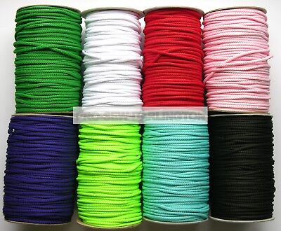 5mm CUSHION DRAWSTRING LACING PIPING CORD ( CHOICE OF LENGTH & 21 COLOURS )