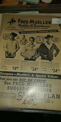 1964 Fred Mueller Saddle and Ranchwear catalog