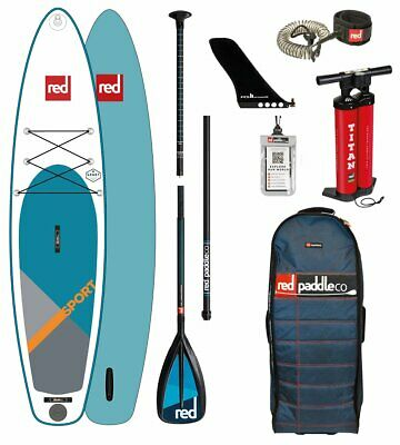 Red Paddle Co 2018 12.6' SPORT MSL Set Package Stand Up Paddle Sup Board