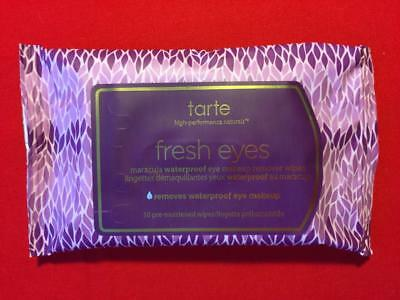 TARTE Fresh Eyes Maracuja Wipes, Travel Packet of 10 Towelettes - NEW, FREE SHIP