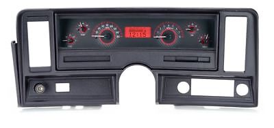 Dakota Digital 69-76 Nova Gauges Carbon Fiber Face~Red Display VHX-69C-NOV-C-R
