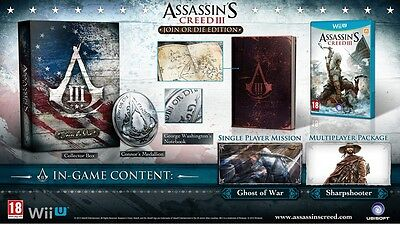 Nintendo Wii U Jeu Assassin's Creed 3 Jointure ou la Collector´ J Nouvelle
