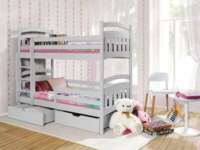 etagenbett 2 personen hochbett ethan stockbett mit matratzen 90x200 eur 479 00 picclick de. Black Bedroom Furniture Sets. Home Design Ideas