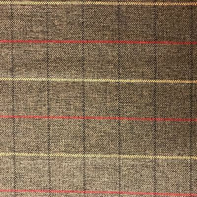 Checkered Chenille Fabric Brown FR 260cmx145cm Upholstery Curtain Cushion CO/009