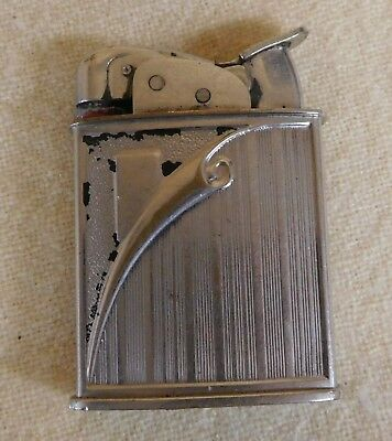 Vintage EVANS FUEL Peeling Metal Page Design LIGHTER (TH483)