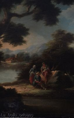 """LATE 19THc . CONTINENTAL OIL ON CANVAS . SIGNED """" D. BUSONI"""""""