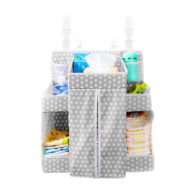 Baby Diaper Nursery Organizer | Hanging Baby Essentials | Reinforced Shelves |
