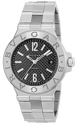 BVLGARI Automatic DIAGONO Black Dial Date Men s Watch Stainless Steel  DG40BSSD 4b1ccdd512