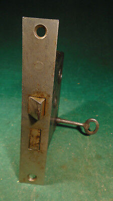 "VINTAGE PENN HARDWARE MORTISE LOCK w/KEY - 5 3/8"" FACEPLATE REBUILT (2870)"