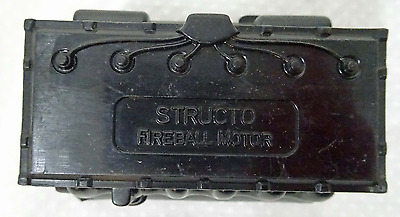 Vintage Structo Fireball Motor Black Toy Parts-Original Old New Store Stock