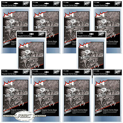 1000 - ULTRA PRO REGULAR SIZE 2-Mil Comic Bags 7-1/8 x 10-1/2 - New Packaging!