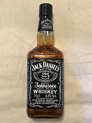 Jack Daniels Black Label Bottle, Empty Amber Display Bottle 86 Proof