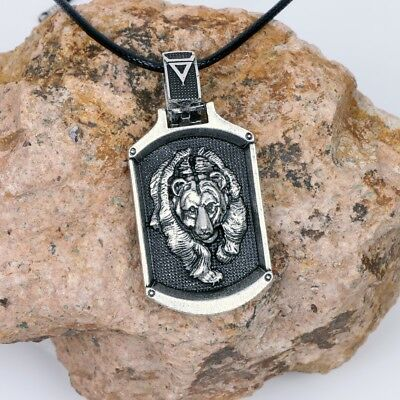 Valknut Vikings Amulet Pendant Necklace Norse Bear Slavic Necklace Jewelry