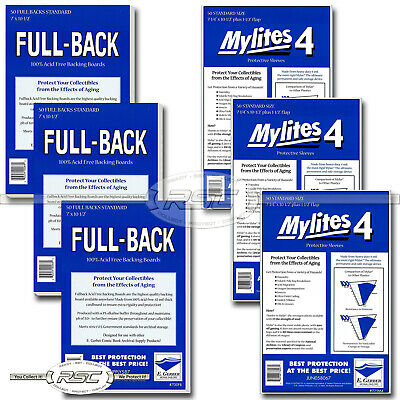 150 - E. GERBER FULL-BACK & MYLITES 4 STANDARD Mylar Bags & Boards! 700FB/725M4
