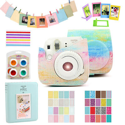 For Fujifilm Instax Mini 8 9 Camera Case Bag Cover Shell + Album + Accessories