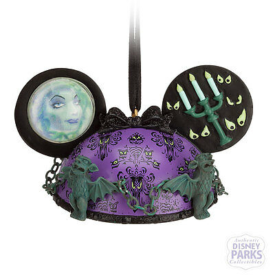 Authentic Disney Parks The Haunted Mansion Ear Hat Ornament Holiday Christmas