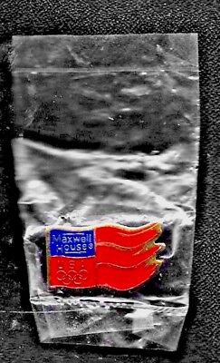 Gold @ Red Flag Maxwell House Olympic Pin NEW.