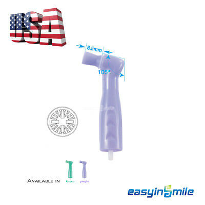 50Pcs Dental Disposable SOFT Prophy Cup Green/Purple 105º Latex Free EASYINSMILE