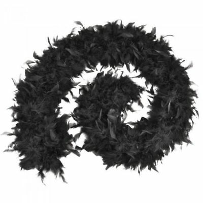 Feather Boa Thick Luxury High Quality Black School Party 80G Gatsby Flapper Uk