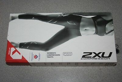 2XU Compression Tights Women's  LARGE BLACK/NERO  WA1968B NEW
