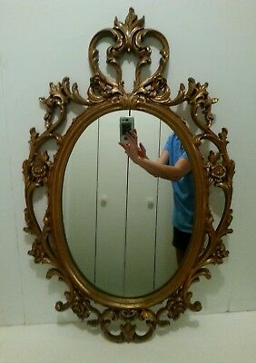 Vintage Gold Scroll French Rococo style wall Mirror