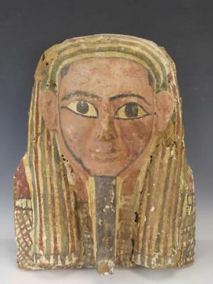 Ancient Egyptian Sarcophagus Mummy Mask c.700 BC