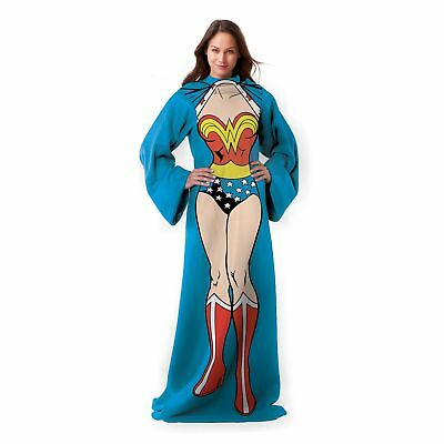 "Wonder Woman Being Wonder Woman Adult Comfy Throw with Sleeves 48"" x 71"""