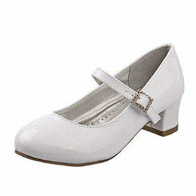 Josmo Girls White Dress Shoes First Communion Party Sizes 11 Toddler - 7 Youth