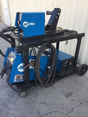 Miller Invision 456MP MIG Welder with S-74DX Wire Feeder and Coolmate 3 Cooler