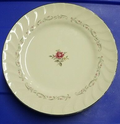 "Lot Of 7 ""Royal Swirl"" 10"" Dinner Plates Fine China Japan Pink Rose"