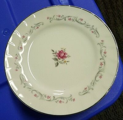 "Lot Of 8 ""Royal Swirl"" 6.25"" Dessert Plates Fine China of Japan -Pink Rose"