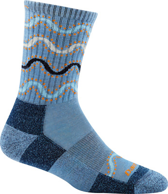 Darn Tough W's Wandering Stripe Micro-Crew Light Cushion, Vapor Blue, M