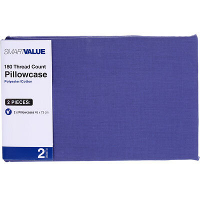 Smart Value Pillow Case 2 Pack - Blue