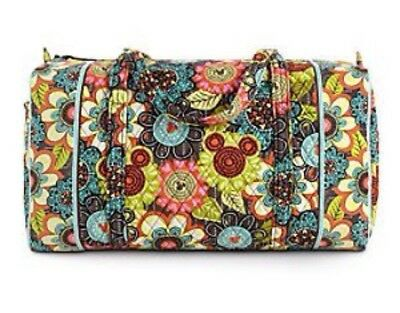 NWT Vera Bradley Large Duffel Disney  Perfect Petals Flower Shower ShipsFast