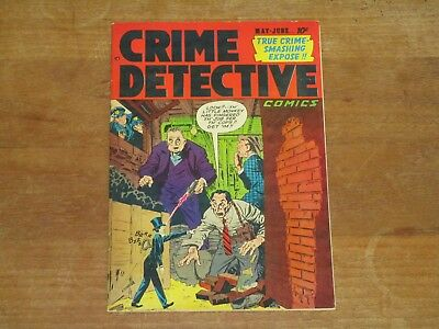 1952 Crime Detective Vol 3 #2 Golden Age Detective Comic High Grade Nm- Wow!!