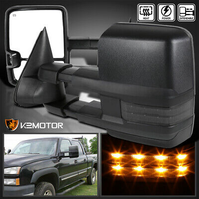 2003-2007 Silverado Sierra Facelift POWER+HEATED Towing Mirrors+LED Smoke Signal