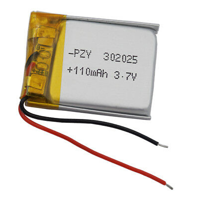 3.7V 110 mAh Li Polymer Li Battery For Mp3 bluetooth glasses pen Sat Nav  302025