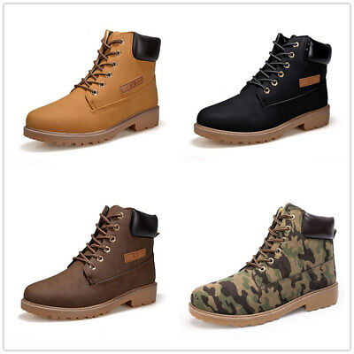 New men's high-top Martin boots casual shoes Tie the shoelace snow boots sneaker