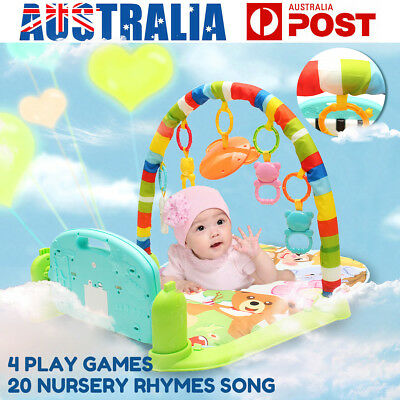Newborn Infant Baby Play Mat Fun Animal Music Keyboard Floor Crawl Soft Gym Rug