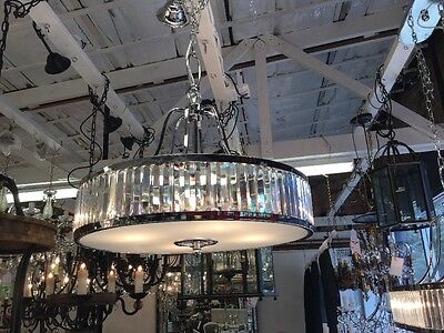ART DECO 4 LIGHT FRENCH CHANDELIER NEW MODERN FOYER LOUNGE ROOM IRON No.74