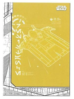 2017 TOPPS STAR Wars The Last Jedi Blueprints and Schematics BP-3 A ...