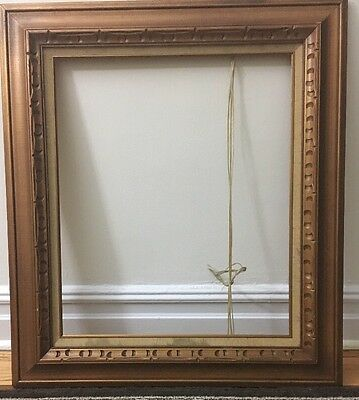 """4"""" Gold Leaf BEAUTIFUL CARVED ALL WOOD Antique Frame 28.3/4 x32.3/4"""