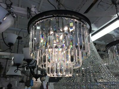 Lrg MODERN CRYSTAL VINTAGE FRENCH CHANDELIER LIGHT PENDANT HALLWAY EMPIRE No.101