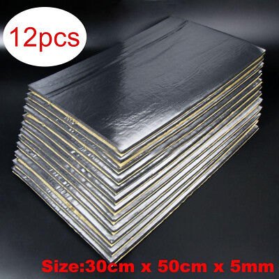 12 Sheets Car Auto Van Sound Proofing Deadening Insulation 5mm Closed Cell Foam
