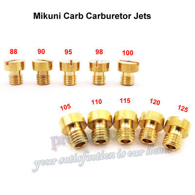 5mm Carb Large Round Main Jets For Mikuni Carburetor VM22 VM24 VM26 Dirt Bike